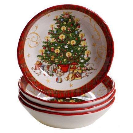 Тарелка суповая Винтажный Санта, 23 см CER41876 Certified International Corp