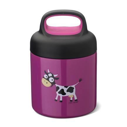 Термос для еды LunchJar Cow (0.3 л), фиолетовый 109102 Carl Oscar недорого