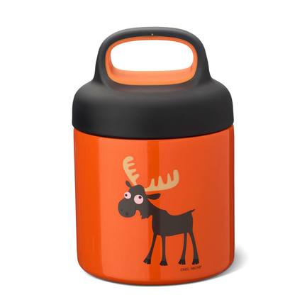 Термос для еды LunchJar Moose (0.3 л), оранжевый 109107 Carl Oscar термос 0 5 л 7 15х24 35 см оранжевый zk142 or zoku