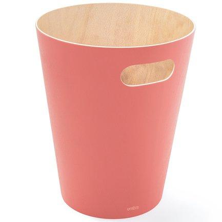 Корзина для мусора Woodrow, 22.99х27.94 см, коралловая 082780-180 Umbra