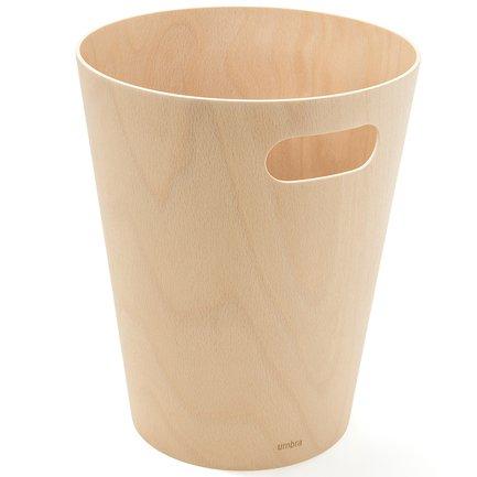 Корзина для мусора Woodrow, 22.99х27.94 см, натуральное дерево 082780-390 Umbra рамка для фотографий edge малая натуральное дерево