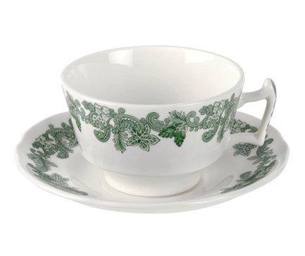 Чашка чайная с блюдцем Зеленый венок (200 мл) SPD-RUWR1138-1 Spode