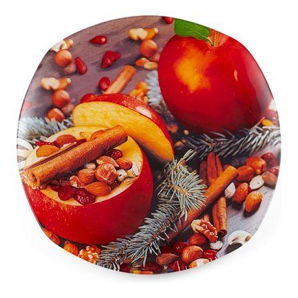 Фото - Блюдо сервировочное квадратное New Year Red 1, 25х25х1.8 см 22232603 Walmer блюдо сервировочное lefard 14 14 5 см