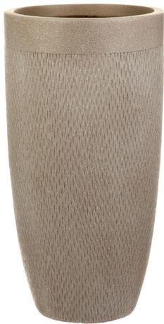 Кашпо Лотус Высокое Круглое, 38х72 см, серо-коричневое