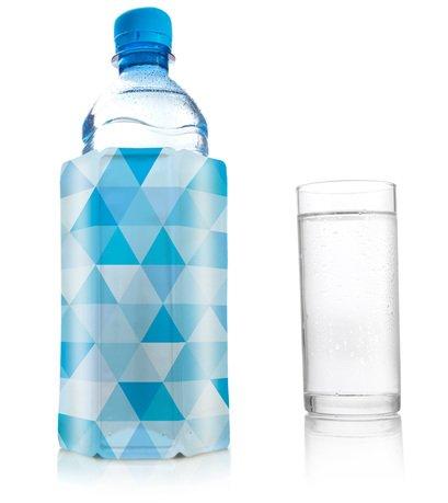 Фото - Охладительная рубашка для бутылок объёмом 0,33 -0,5 л, голубой бриллиант 3854860 VacuVin охладительная рубашка бокала для виски ac whiskey 36405606 vacuvin