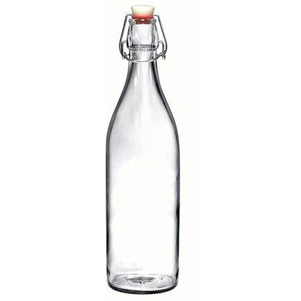 Бутылка стеклянная с зажимом Giara (1 л), прозрачная 666260J87321299 Bormioli Rocco