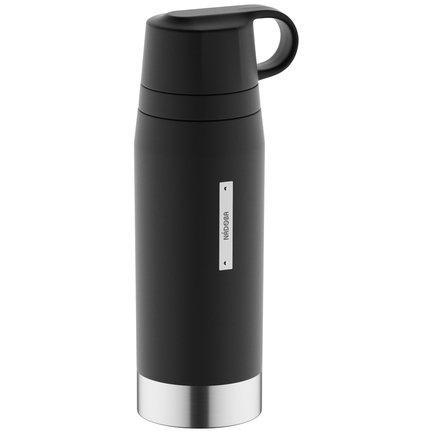 Термос с 2 чашками ALBA (1 л), черный 735011 Nadoba