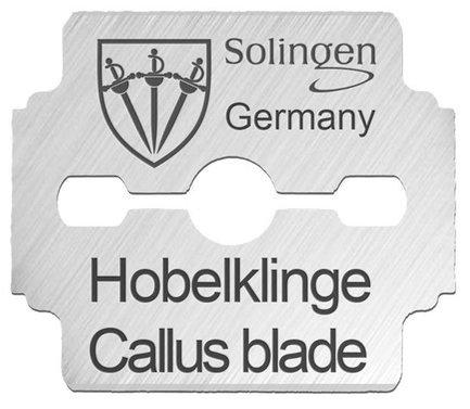 Набор сменных лезвий для педикюрного скребка Blister Basic line, 10 шт BS 5606 Drei Schwerter metzger лезвия для скребка педикюра для скребка 892 3 и 892 4 упаковка 10 лезвий