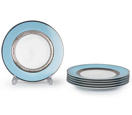 Набор тарелок Monaco Bleu Turquoise, 27 см, 6 шт. 539116 1626 Tunisie Porcelaine набор подстановочных тарелок lefard диаметр 25 см 6 шт 274832
