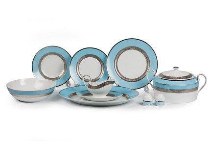 Сервиз столовый Mimosa Monaco Bleu Turquoise, 25 пр. 679825 1626 Tunisie Porcelaine
