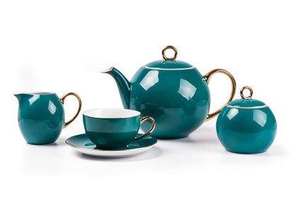 Чайный сервиз Monalisa Rainbow Or, 15 пр., бирюза 559511 3123 Tunisie Porcelaine