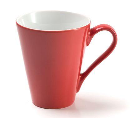 Кружка Putoisage rouge, красная 737830 3067 Tunisie Porcelaine шкатулка красный цветок фарфор роспись porcelaine de paris франция вторая половина xx века