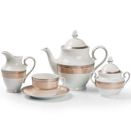 Сервиз чайный Tanit Victoir Platine, 15 пр. 659512 1489 Tunisie Porcelaine чайный сервиз luminarc color pencil 13 предметов
