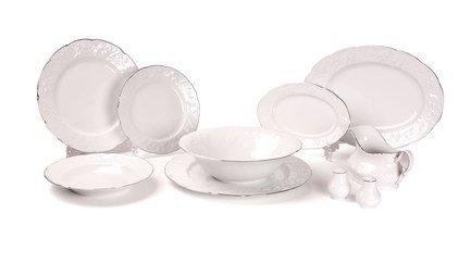 Сервиз столовый Vendage Filet Platine, 25 пр. 699125 0019 Tunisie Porcelaine