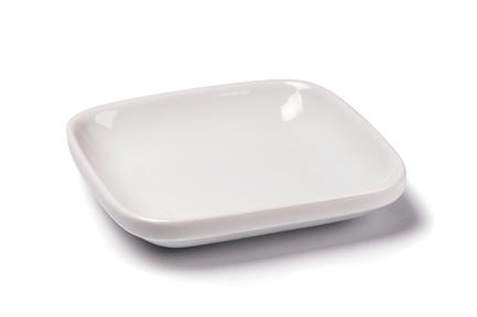 Тарелка квадратная Porcelaine A Feu, 12х12 см 000312 Tunisie Porcelaine блюдо для запекания porcelaine a feu 1 л 20х13 5х4 см 004020 tunisie porcelaine