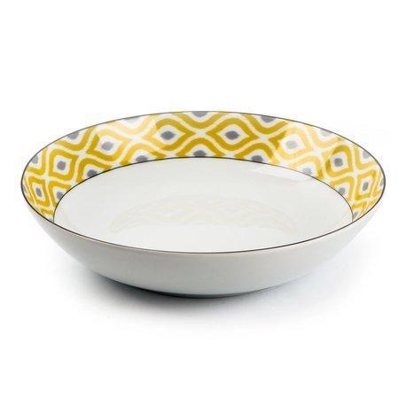 Тарелка глубокая Огненный Павлин, 21 см 5500221 2372 Tunisie Porcelaine стоимость
