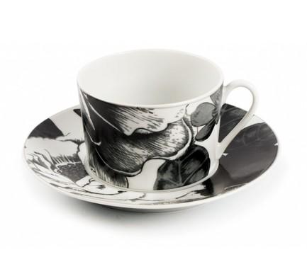 Чайная пара Черный Базилик (220 мл) 5303522 2371 Tunisie Porcelaine стоимость