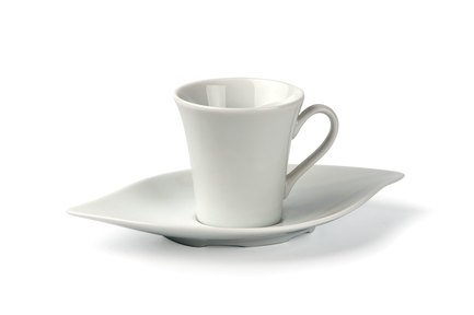Фото - Кофейная пара Feuille (90 мл), 6.5х6.7 см 733509 Tunisie Porcelaine кофейная пара tiffany or 110 мл 6103510 1785 tunisie porcelaine
