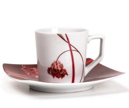 Набор кофейных пар Kyoto Noblesse Rouge, 6 шт. 719012 0753 Tunisie Porcelaine набор кофейных 6 пар carlsbad