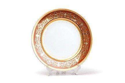 Набор тарелок Mimosa Didon Orange, 27 см, 6 шт. 539116 1642 Tunisie Porcelaine набор подстановочных тарелок lefard диаметр 25 см 6 шт 274832