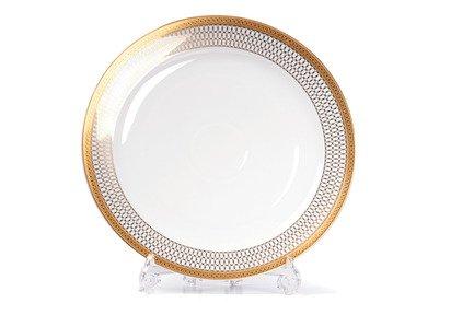 Блюдо презентационное Mimosa Victoire Or 580632 1488 Tunisie Porcelaine блюдо презентационное прямоугольное zeus 28х22 см 220129 tunisie porcelaine