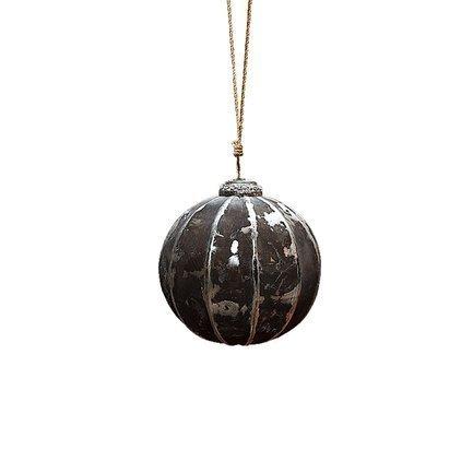 Новогодняя игрушка шар Black Gold, 9 см