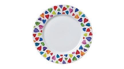 цена на Тарелка закусочная Добрые сердца, 22 см DNN78150022 Dunoon