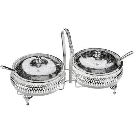 Набор вазочек для варенья с крышкой и ложками, 11.5 см, 7 пр QA-0/4332 Queen Anne