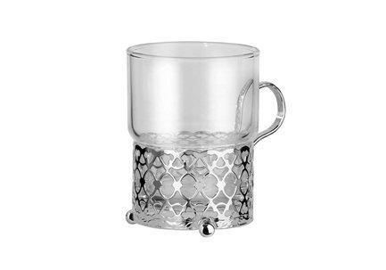 Набор из стакана (150 мл) с подстаканником Античный, 7х9 см