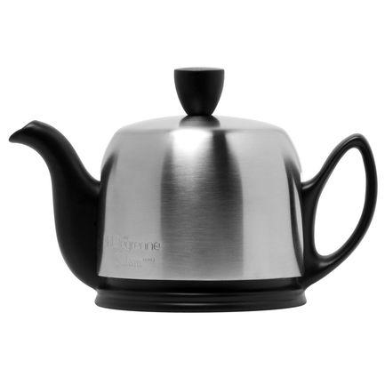 Чайник заварочный Salam Mat Black (0.37 л), с колпаком, с ситечком, на 2 чашки