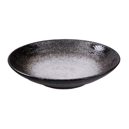 Тарелка Minoyaki, 23 см, черно-белая
