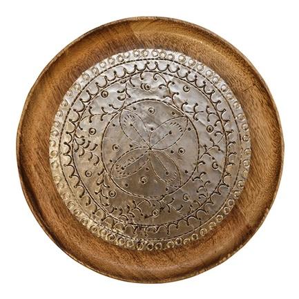 Блюдо, 30х2.2 см, цвет золотой HD-AM-161 Roomers блюдо vellarti бассет вращающееся диаметр 30 см 2170035