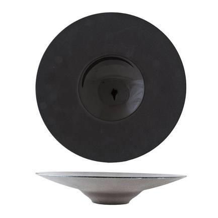 Тарелка BlackStone, 28 см, черная 5437128 Roomers