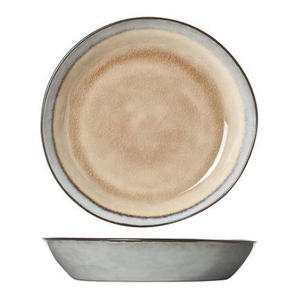 Тарелка глубокая Castora&Pollux, 20 см, серо-коричневая 4870520 Roomers тарелка глубокая e665 24 5 см черная e665 p 08168 24 5cm roomers