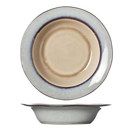 Тарелка глубокая Castora&Pollux, 21.5 см, серо-коричневая 4870522 Roomers тарелка глубокая e665 24 5 см черная e665 p 08168 24 5cm roomers
