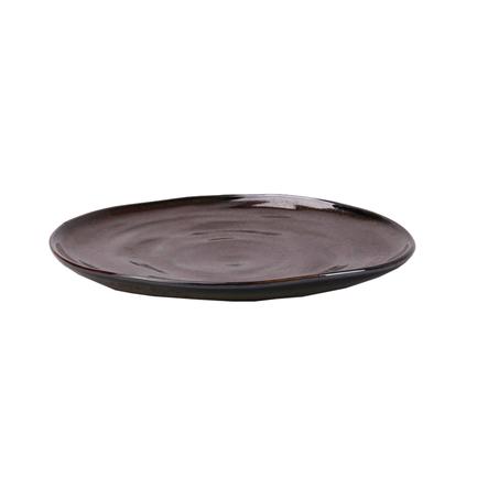 Тарелка E665, 28 см, черная E665-P-10167 28CM Roomers