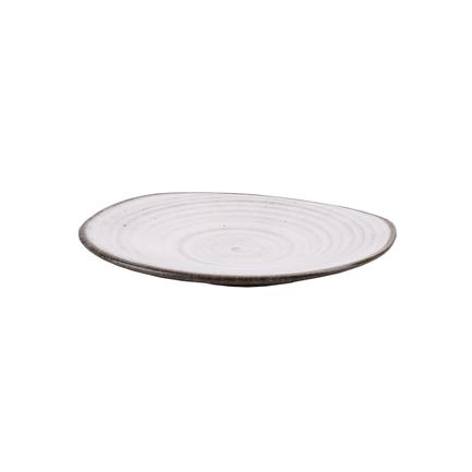 Тарелка E669, 27х23.5х3.5 см, бело-коричневая E669-P-08174 27CM Roomers чаша e669 23 5 см коричневая e669 b 06198 23 5cm roomers