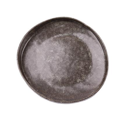 Тарелка E673, 24 см, серая E673-P-08158 24CM Roomers тарелка глубокая e665 24 5 см черная e665 p 08168 24 5cm roomers