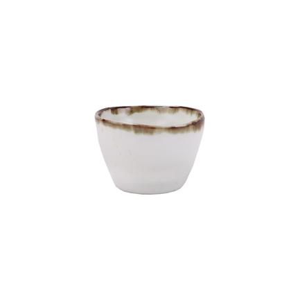 Чашка E664, 8.5x8.5x5.5 см, бело-коричневая