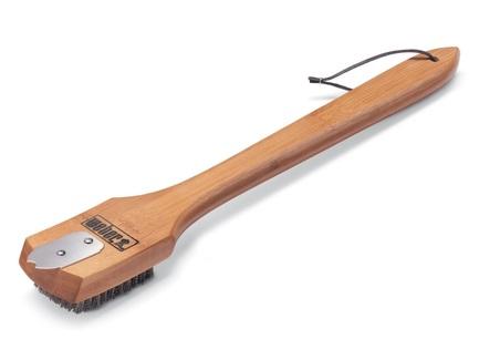 Фото - Щетка-скребок для гриля с бамбуковой ручкой, 46 см 6464 Weber metzger скребок металлический для педикюра 14 см