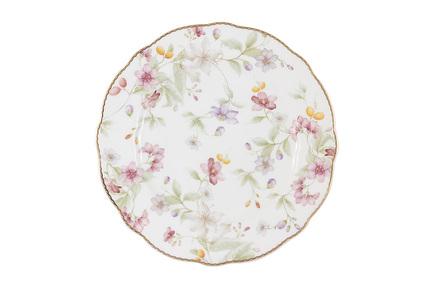 Тарелка Цветы, 20 см AL-M2124_DSP-E9 Anna Lafarg тарелка мелкая дулевский фарфор альпийские цветы красные диаметр 20 см
