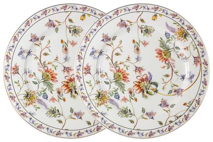 цена на Набор обеденных тарелок Флора, 26.5 см, белый, 2 шт AL-1557W-DP-P4 Anna Lafarg
