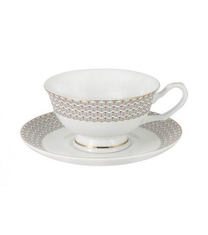 Чашка Скандинавия (200 мл), с блюдцем AL-18614_CS-E5 Anna Lafarg
