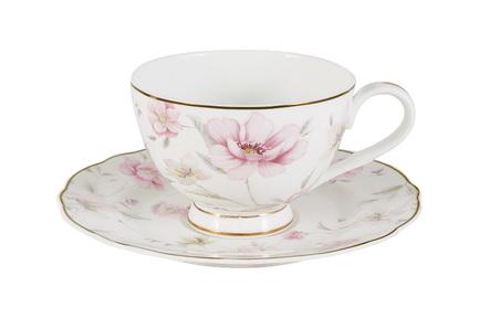 Чашка Розовый танец (200 мл), с блюдцем AL-M1661_CS_1-E9 Anna Lafarg