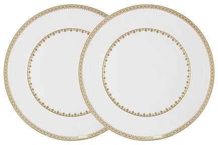 Набор обеденных тарелок Золотой замок, 27 см, 2 шт. C2-DR_2-6962 Colombo цена и фото