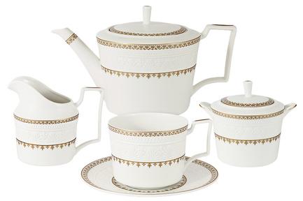 Чайный сервиз Золотой замок на 6 персон, 15 пр. C2-TS_15-6962 Colombo