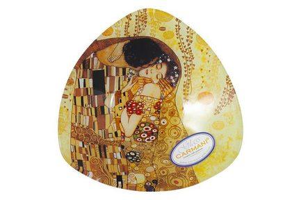 Тарелка треугольная Поцелуй (Г.Климт), 17х17 см