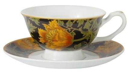Чашка Анемон (У. Моррис) (200 мл), с блюдцем CAR2-834-0302 Carmani