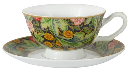 Чашка Лестер (У. Моррис) (200 мл), с блюдцем CAR2-834-0303 Carmani cn 36 чашка с блюдцем ирисы в гог 250 мл carmani
