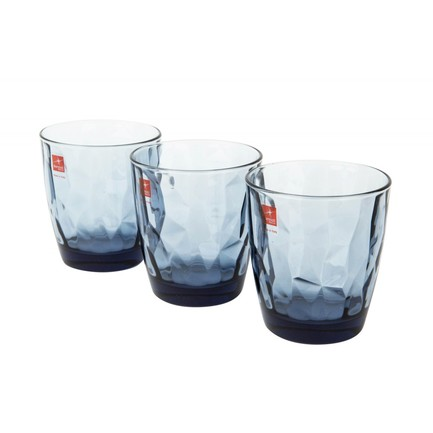 Набор стаканов низких Diamond Ocean Blue (305 мл), 3 шт 350220Q02021990 Bormioli Rocco набор стаканов bistro 0 3 л 2 шт син арт a11582 528 y15